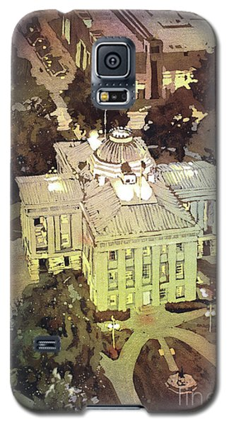 Galaxy S5 Case featuring the painting Capitol Of Stupid- Raleigh, Nc by Ryan Fox