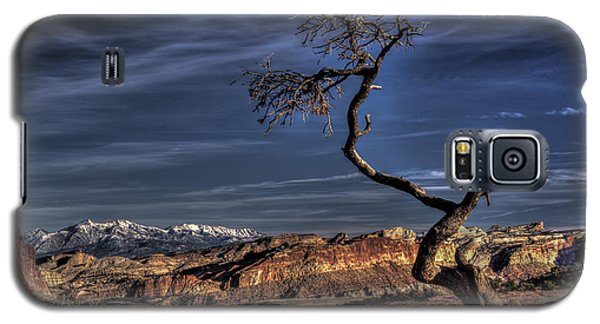 Galaxy S5 Case featuring the photograph Capitol Reef Loner by Wendell Thompson