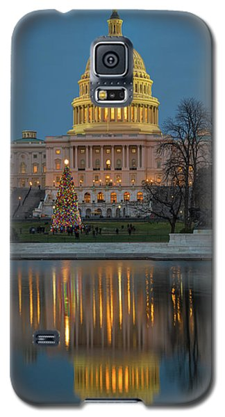 Capitol Reflection At Christmas Galaxy S5 Case