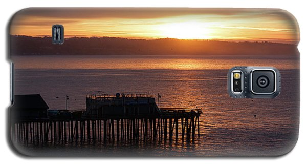 Galaxy S5 Case featuring the photograph Capitola Day Begins by Lora Lee Chapman
