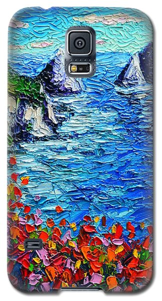 Capri Faraglioni 2 Italy Colors Modern Impressionist Palette Knife Oil Painting Ana Maria Edulescu  Galaxy S5 Case