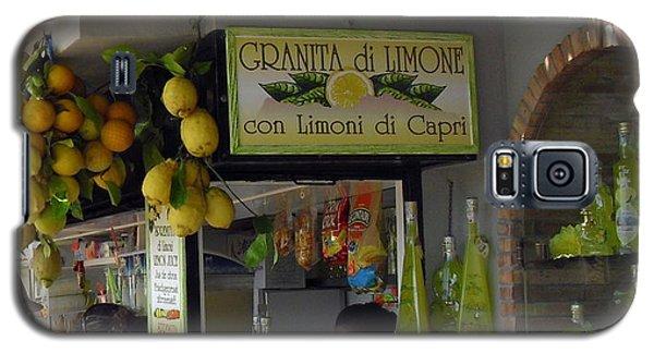 Capri Street Scene Con Limoni Galaxy S5 Case