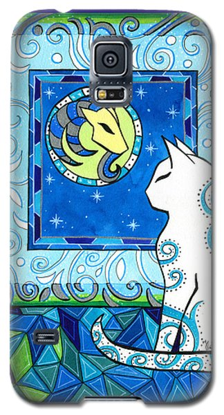 Capricorn Cat Zodiac Galaxy S5 Case