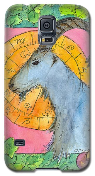 Galaxy S5 Case featuring the painting Capricorn by Cathie Richardson