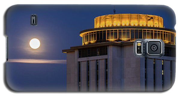 Capstone House And Full Moon Galaxy S5 Case