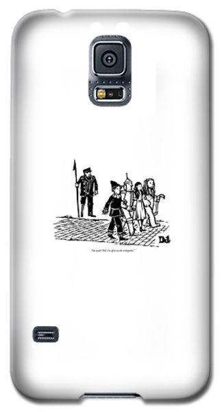 Wizard Galaxy S5 Case - Captain Ahab Stands Speaking At The Yellow Brick by Drew Dernavich