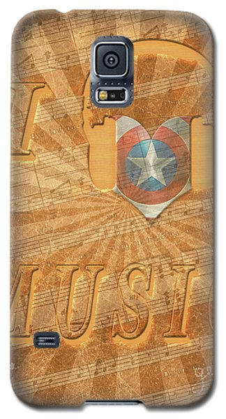 Galaxy S5 Case featuring the painting Captain America Lullaby Original Digital by Georgeta Blanaru