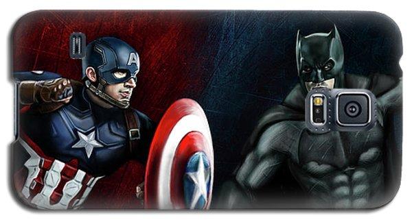 Ben Affleck Galaxy S5 Case - Captain America Vs Batman by Vinny John Usuriello
