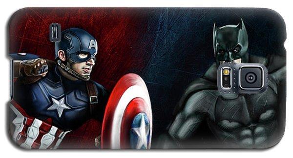 Captain America Vs Batman Galaxy S5 Case by Vinny John Usuriello