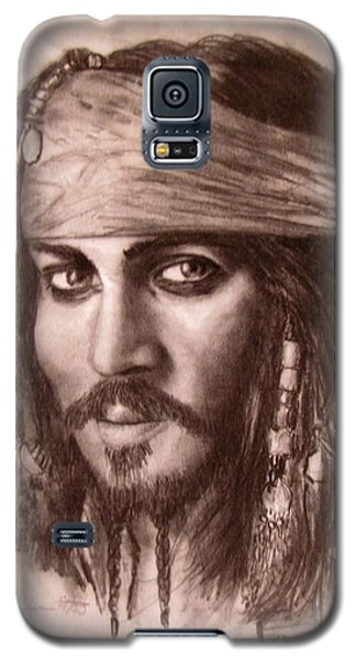 Galaxy S5 Case featuring the drawing Capt.jack by Jack Skinner