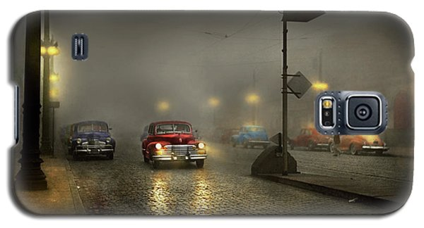 Galaxy S5 Case featuring the photograph Car - Down A Lonely Road 1940 by Mike Savad