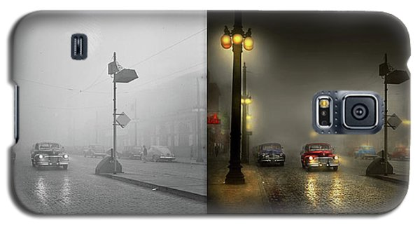 Galaxy S5 Case featuring the photograph Car - Down A Lonely Road 1940 - Side By Side by Mike Savad