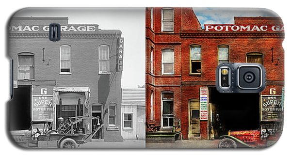 Galaxy S5 Case featuring the photograph Car - Garage - Misfit Garage 1922 - Side By Side by Mike Savad