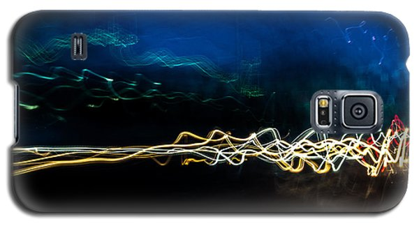 Car Light Trails At Dusk In City Galaxy S5 Case by John Williams