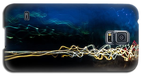 Car Light Trails At Dusk In City Galaxy S5 Case