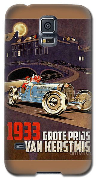 Car Racing Christmas Poster Of The 30s Galaxy S5 Case