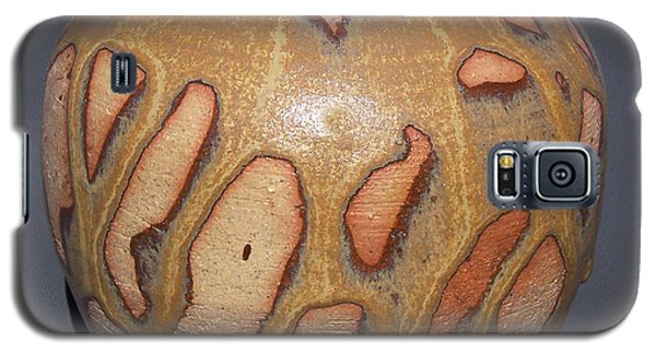 Ceramics Galaxy S5 Cases - Caramel Drizzle Wheel Thrown Pot Galaxy S5 Case by Carolyn Coffey Wallace