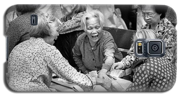 Galaxy S5 Case featuring the photograph Card Players In Chinatown by Dave Beckerman