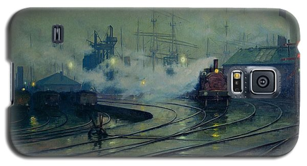 Train Galaxy S5 Case - Cardiff Docks by Lionel Walden