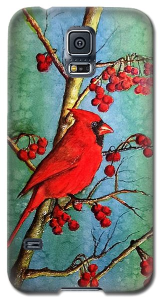 Cardinal And Berries Galaxy S5 Case