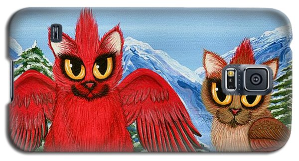 Cardinal Cats Galaxy S5 Case by Carrie Hawks