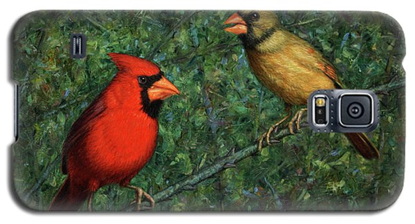 Cardinal Couple Galaxy S5 Case by James W Johnson