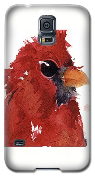 Galaxy S5 Case featuring the painting Cardinal by Dawn Derman