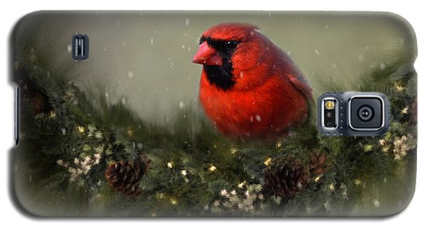 Cardinal Merry Christmas Galaxy S5 Case
