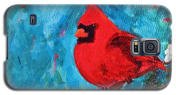 Cardinal Red Bird Watercolor Modern Art Galaxy S5 Case
