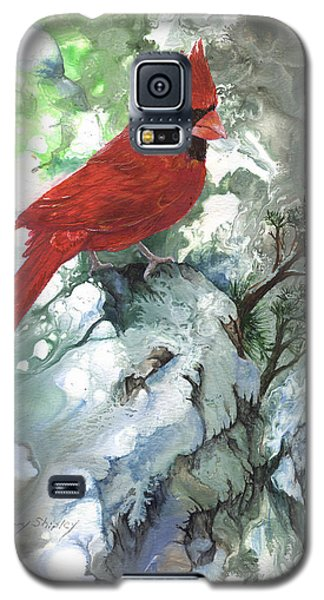 Galaxy S5 Case featuring the painting Cardinal by Sherry Shipley