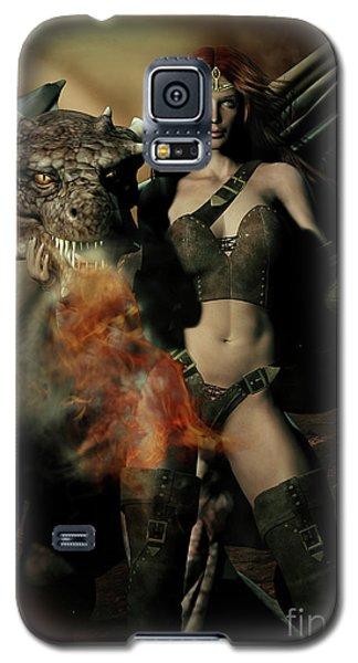 Careful He Burns Galaxy S5 Case by Shanina Conway