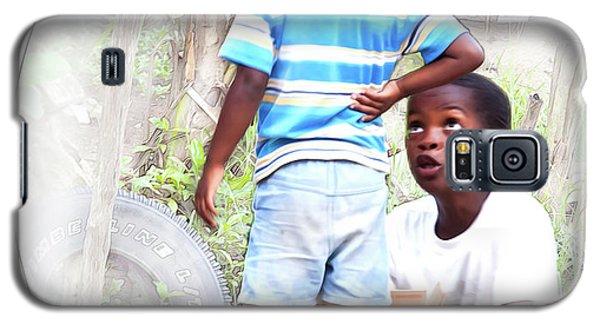 Caribbean Kids Illustration Galaxy S5 Case
