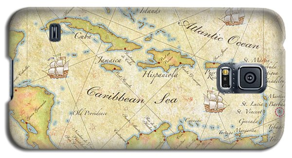 Galaxy S5 Case featuring the digital art Caribbean Map II by Unknown