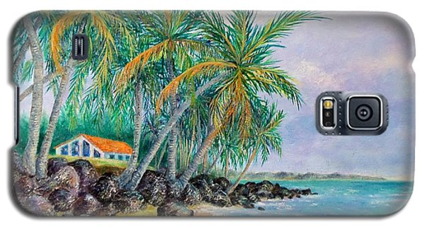 Galaxy S5 Case featuring the painting Caribbean Retreat by Susan DeLain