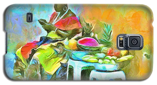Caribbean Scenes - De Fruit Lady Galaxy S5 Case by Wayne Pascall