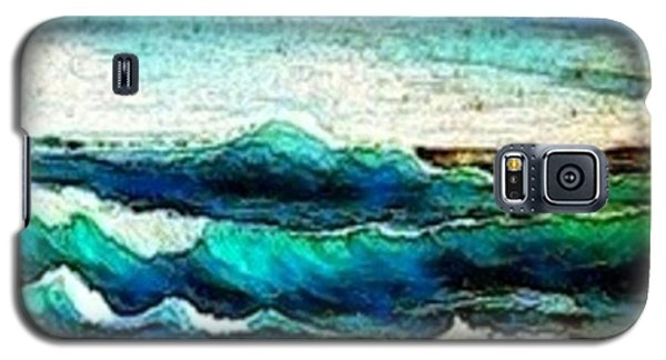 Galaxy S5 Case featuring the painting Caribbean Waves by Holly Martinson