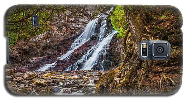 Galaxy S5 Case featuring the photograph Caribou Falls In Fall by Rikk Flohr