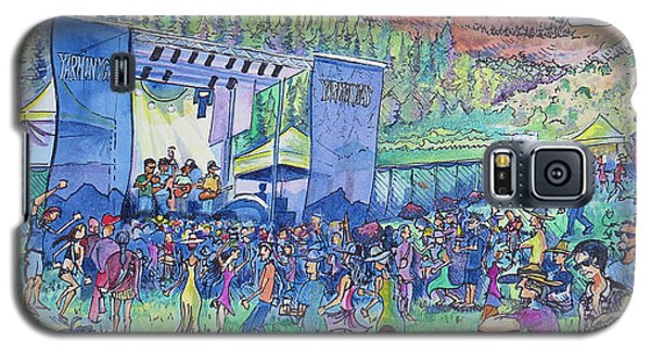 Galaxy S5 Case featuring the painting Caribou Mountain Collective At Yarmonygrass by David Sockrider