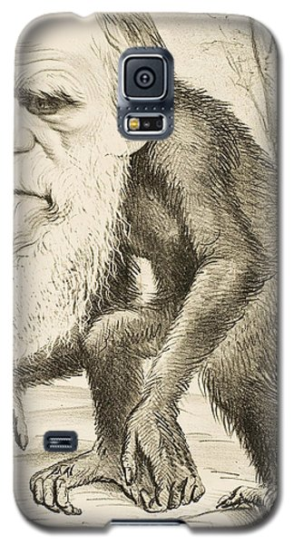 Caricature Of Charles Darwin Galaxy S5 Case by English School