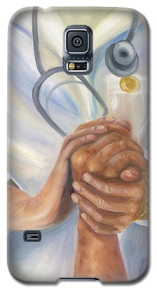 Galaxy S5 Case featuring the painting Caring A Tradition Of Nursing by Marlyn Boyd