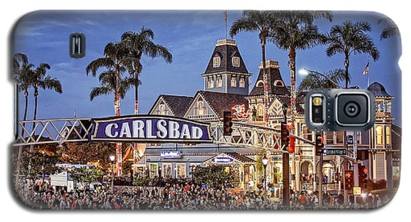 Carlsbad Village Sign Lighting Galaxy S5 Case by Ann Patterson