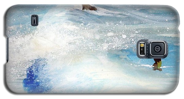 Galaxy S5 Case featuring the painting Carmel By The Sea by Ed  Heaton