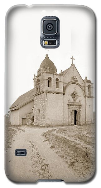 Carmel Mission South Side Circa 1915 Galaxy S5 Case by California Views Mr Pat Hathaway Archives