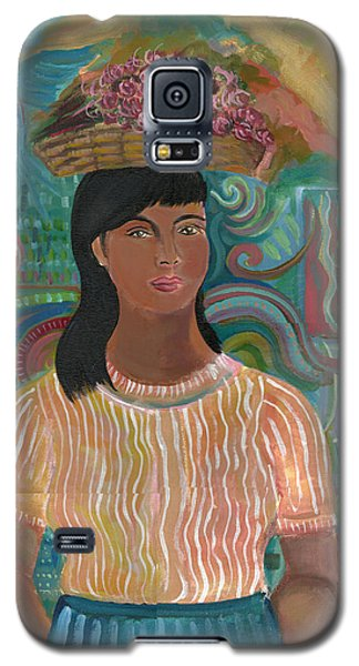 Galaxy S5 Case featuring the painting Carmelita by John Keaton