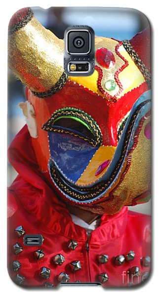 Carnival Red Duck Portrait Galaxy S5 Case by Heather Kirk