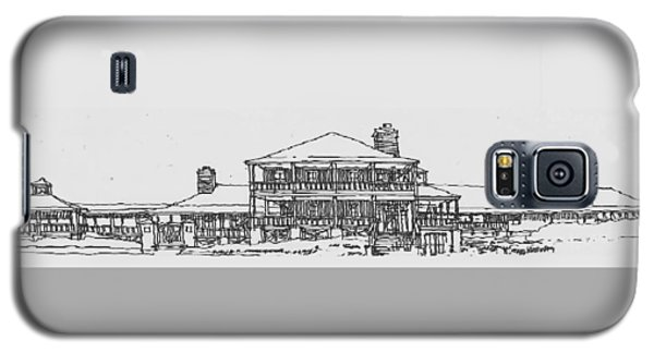 Galaxy S5 Case featuring the drawing Carolina Beach House by Andrew Drozdowicz