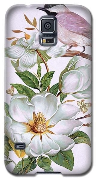 Carolina Chickadee And Magnolia Flower Galaxy S5 Case