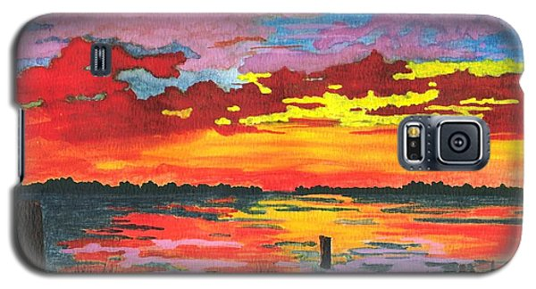 Galaxy S5 Case featuring the painting Carolina Sunset by Patricia Griffin Brett