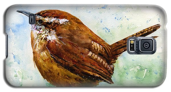 Carolina Wren Large Galaxy S5 Case
