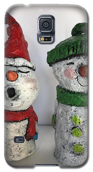 Caroling Snowmen Galaxy S5 Case by Vickie Scarlett-Fisher